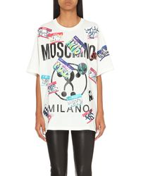 Moschino | White Leopard Dog Cotton-jersey T-shirt | Lyst