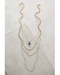 Anthropologie | Green Isequilla Layered Necklace | Lyst
