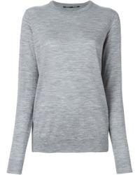 Proenza Schouler - Gray Crew Neck Sweater - Lyst