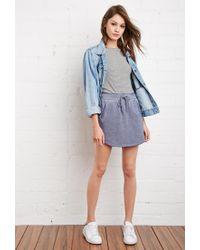 Forever 21 | Blue Heathered Drawstring Skirt | Lyst