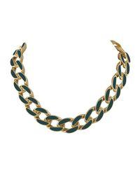 Karen Kane - Green Secret Garden Collar Necklace - Lyst