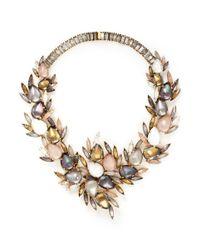 Erickson Beamon | Metallic 'sound Garden' Crystal Wreath Necklace | Lyst