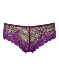 Wacoal Purple Embrace Lace Tanga Briefs
