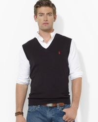 Pink Pony | Black Polo Pima Cotton Sweater Vest for Men | Lyst