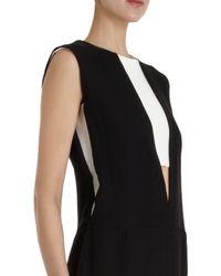 Narciso Rodriguez Black Contrast Inner Inset Sleeveless Dress