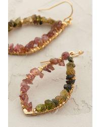 Anthropologie | Green Moonglow Teardrop Earrings | Lyst