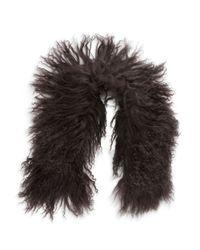 Adrienne Landau | Gray Lamb Fur Stole | Lyst