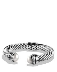 David Yurman Metallic Cable Classics Bracelet With Pearls