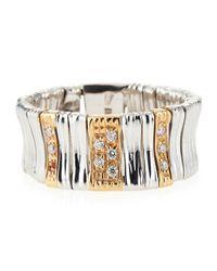 Roberto Coin - Metallic 18k Elephantina Flexible Diamond Ring, White Gold, Size 6.5 - Lyst