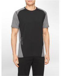 Calvin Klein - Black Performance Colorblock Reflective Print Short Sleeve Shirt for Men - Lyst