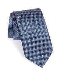 Ermenegildo Zegna | Blue Men's Geometric-pattern Jacquard Necktie for Men | Lyst