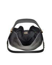Furla - Black Large Luna Onyx Leather Hobo Bag - Lyst