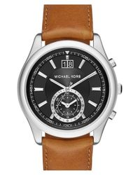 MICHAEL Michael Kors | Metallic Michael Kors 'aiden' Chronograph Watch for Men | Lyst
