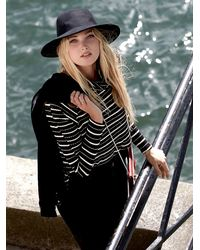 Free People | Black We The Free Stripe Kristina Thermal | Lyst