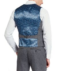 Ted Baker Gray T For Tall Lubwai Textured Waistcoat for men