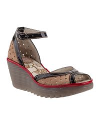 Fly London | Natural Ydel Wedge Sandal Beige Suede | Lyst