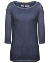 BOSS Orange Blue Cotton T-shirt 'tasfias'