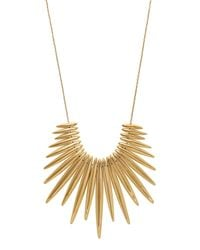 Michael Kors | Metallic Golden Tribal Pendant Necklace | Lyst