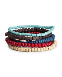 H&M - Blue 5pack Bracelets for Men - Lyst