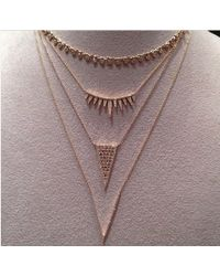 Anne Sisteron | 14kt Yellow Gold Diamond Spiked Tiara Necklace | Lyst