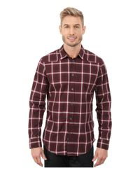 Calvin Klein Jeans | Red Ombre Plaid Shirt for Men | Lyst