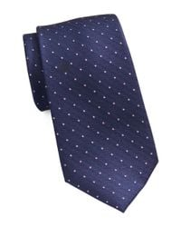 MICHAEL Michael Kors | Blue Silk Patterned Tie for Men | Lyst