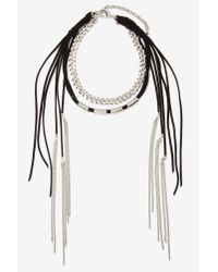 Nasty Gal | Multicolor Rough Rider Vegan Suede Necklace | Lyst