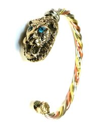 Sibilla G Jewelry | Metallic Sibilla G Good Power Energy Lion Handcrafted Tricolor Braided Bangle | Lyst