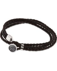 Tateossian | Black Diamond Dust Button Bracelet - For Men | Lyst
