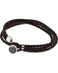 Tateossian - Black Diamond Dust Button Bracelet - For Men - Lyst
