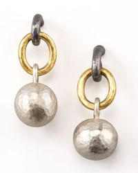 Gurhan | Metallic Mixed-metal Ball-drop Earrings | Lyst
