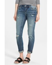 Vigoss - Blue 'tomboy' Destroyed Skinny Jeans - Lyst