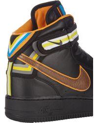 Nike Black Mens Air Force 1 Rt Mid Sneakers for men