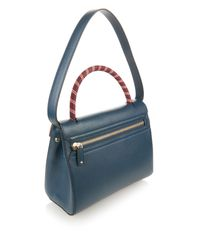 Anya Hindmarch - Blue Bathurst Arrow Leather Tote - Lyst
