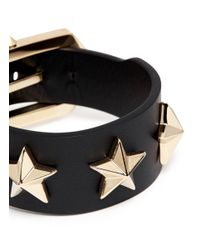 Givenchy - Metallic Star Stud Leather Bracelet - Lyst