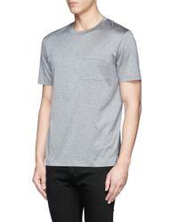 Valentino - Gray Reverse Print T-shirt for Men - Lyst