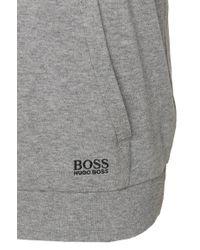 BOSS Gray 'sweatshirt'   Cotton Cocoon Neck Sweatshirt for men