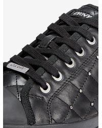 DKNY - Black Blair Studded Sneaker - Lyst