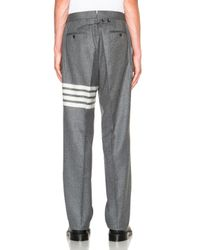 Thom Browne - Gray Classic Flannel Twill Backstrap Trousers - Lyst