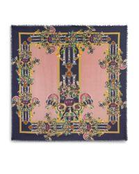 Mary Katrantzou - Pink Jewel Wasp Printed Modal Cashmere Scarf - Lyst