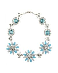 Miu Miu | Blue Crystal-embellished Necklace | Lyst