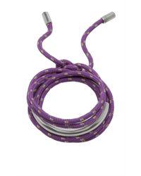 Isabel Marant | Purple Rope Bracelet | Lyst