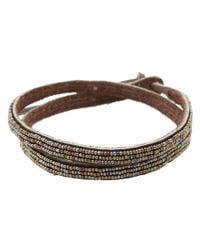 Chan Luu Brown Triple Wrap Seed Bracelet
