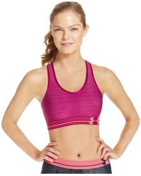 6e570189ac Lyst - Under Armour Heatgear® Alpha Printed Compression Sports Bra ...