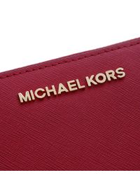MICHAEL Michael Kors - Red Jet Set Continental Purse - Lyst
