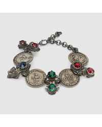 Gucci | Metallic Bracelet With Coins And Crystals | Lyst