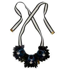 Marni Green Circle Ribbon Tie Necklace