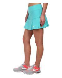 Nike Blue Four Pleated Knit Skort