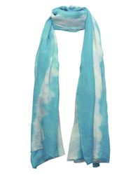 Me and Kashmiere | Blue Squall Print Cashmere Blend Scarf | Lyst