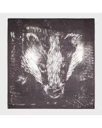 Paul Smith - Black Badger Print Scarf for Men - Lyst